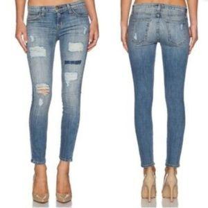 CURRENT ELLIOTT Distressed Skinny Jeans